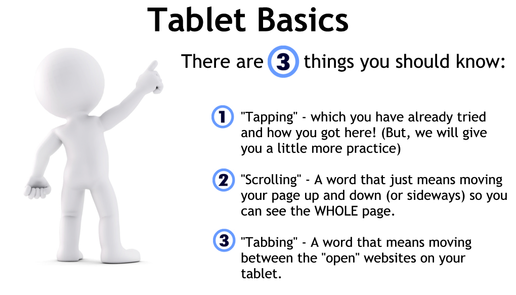 Tablet Basics tapping scrolling and tabbing
