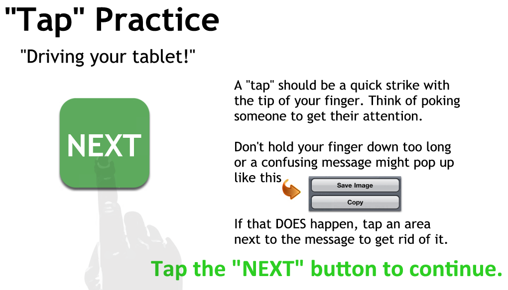 Tapping Practice Page 2 - Just tap