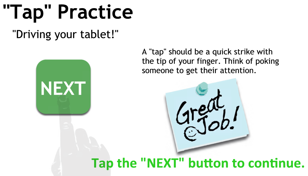 Tapping Practice Page 3 - Just tap