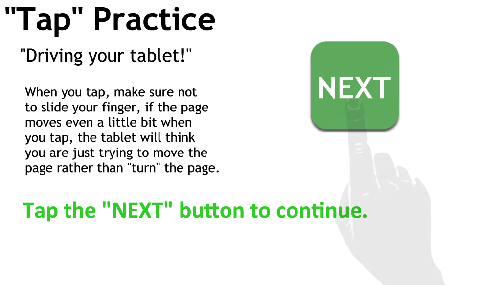 Tapping Practice Page 4 - Just tap