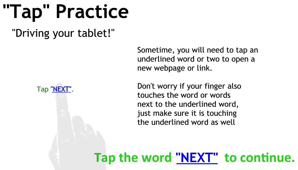 Tapping Practice Page 5 - Just tap