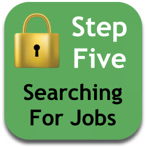 Searching for jobs - tap anywhere