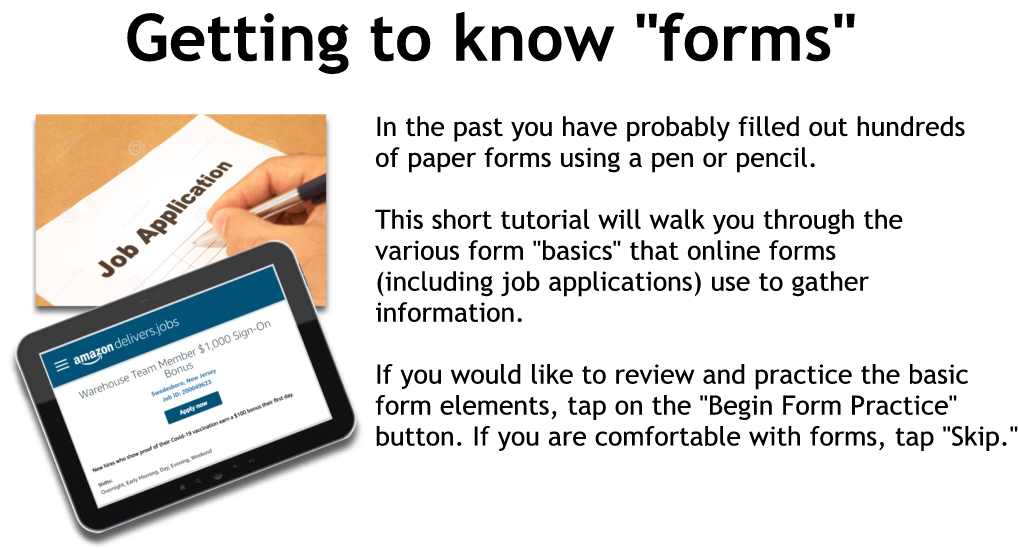 Getting to know forms