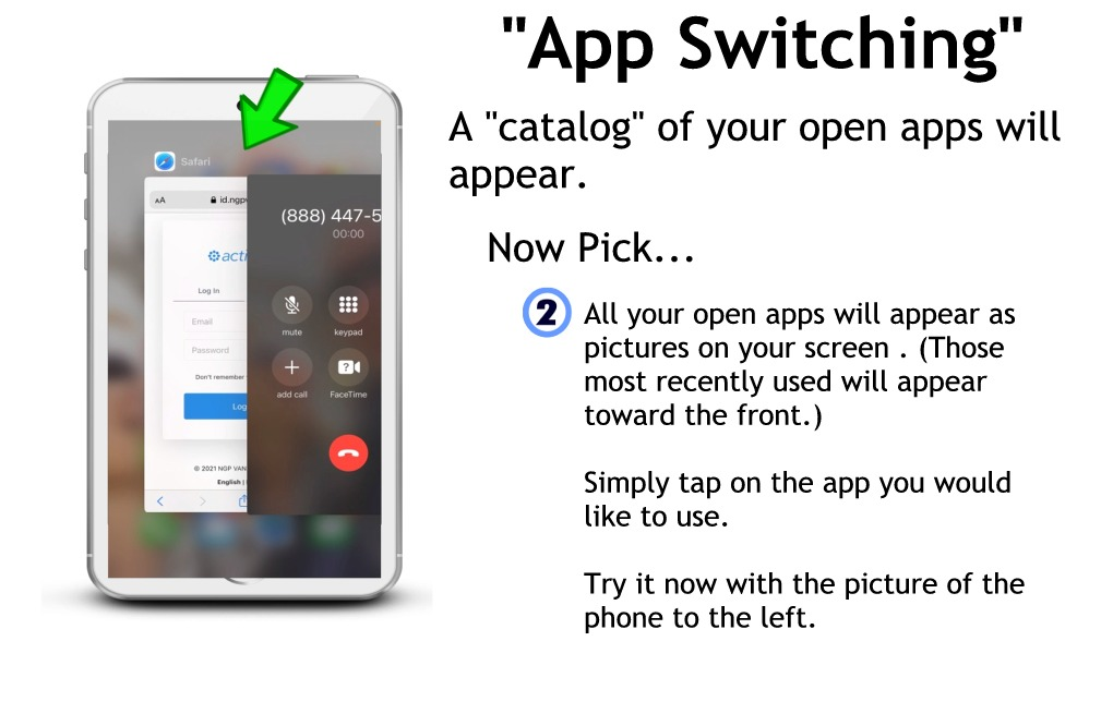 Switching apps without a home button part 2 - open apps
