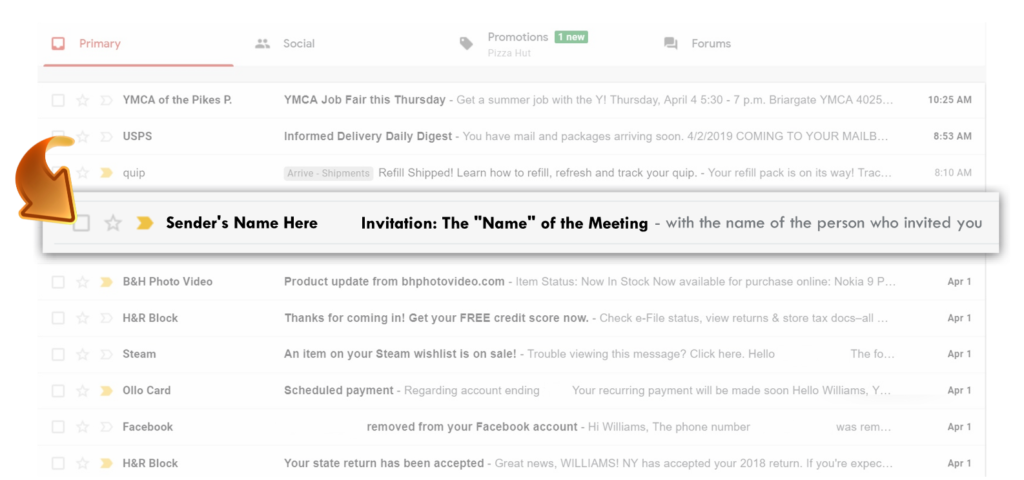 Tap the invitation email