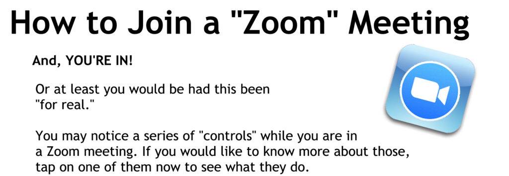Getting in the meeting and learning the Zoom control buttons