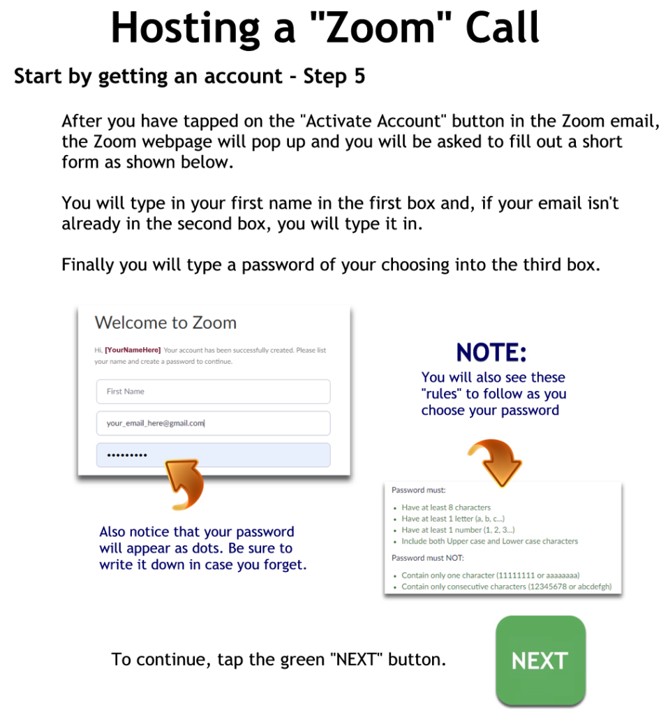Getting a Zoom account - step 5