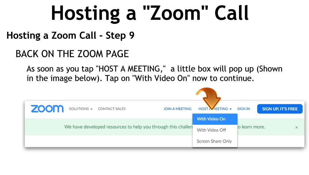 Hosting a Zoom Call - Step 9