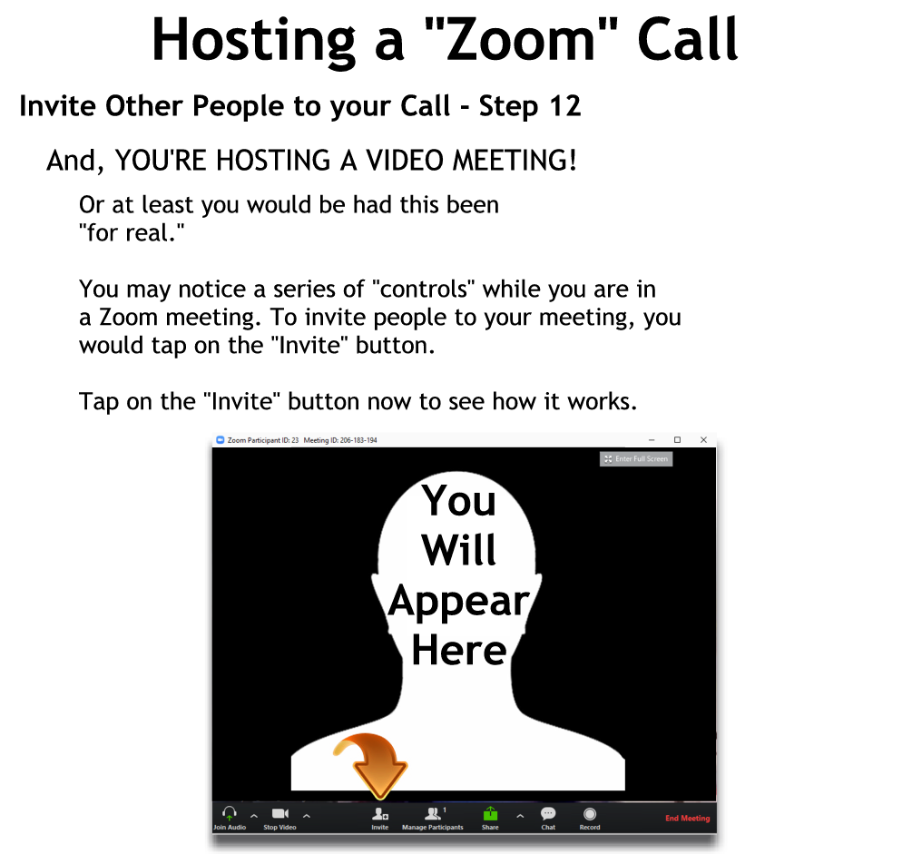 Invite Other People to your Call - Step 12