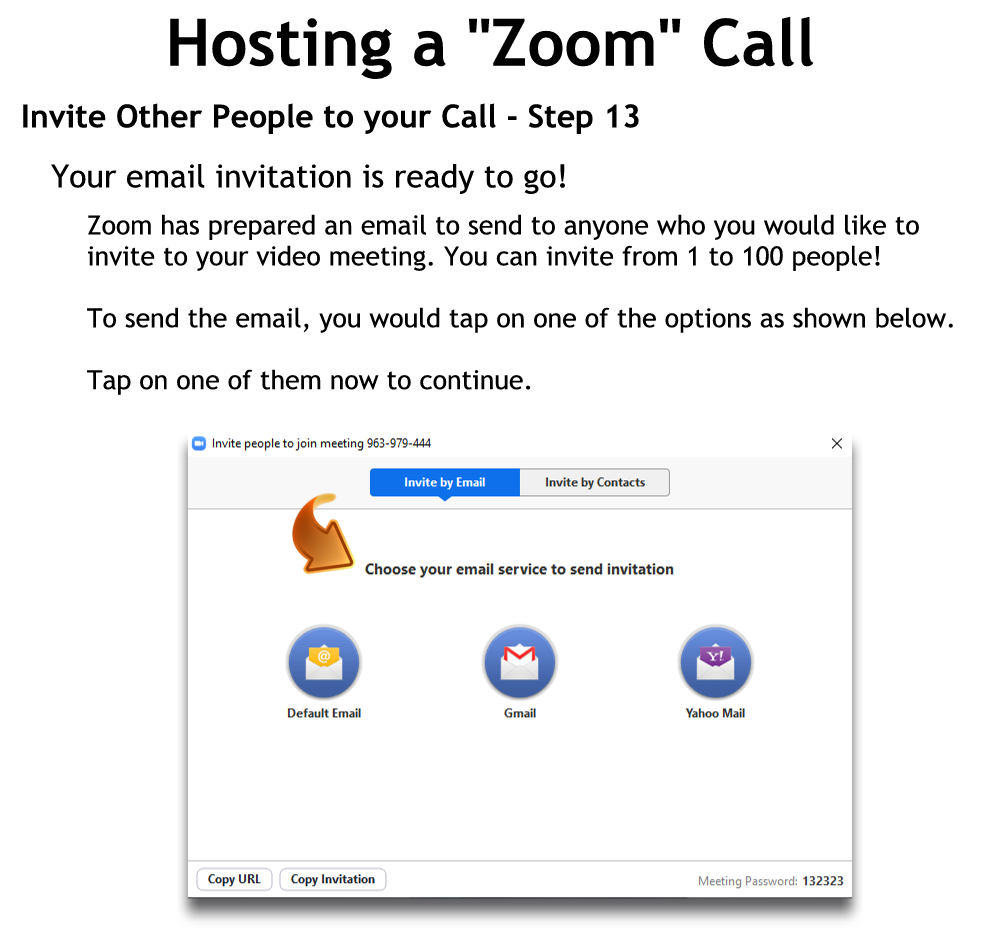 Invite Other People to your Call - Step 13