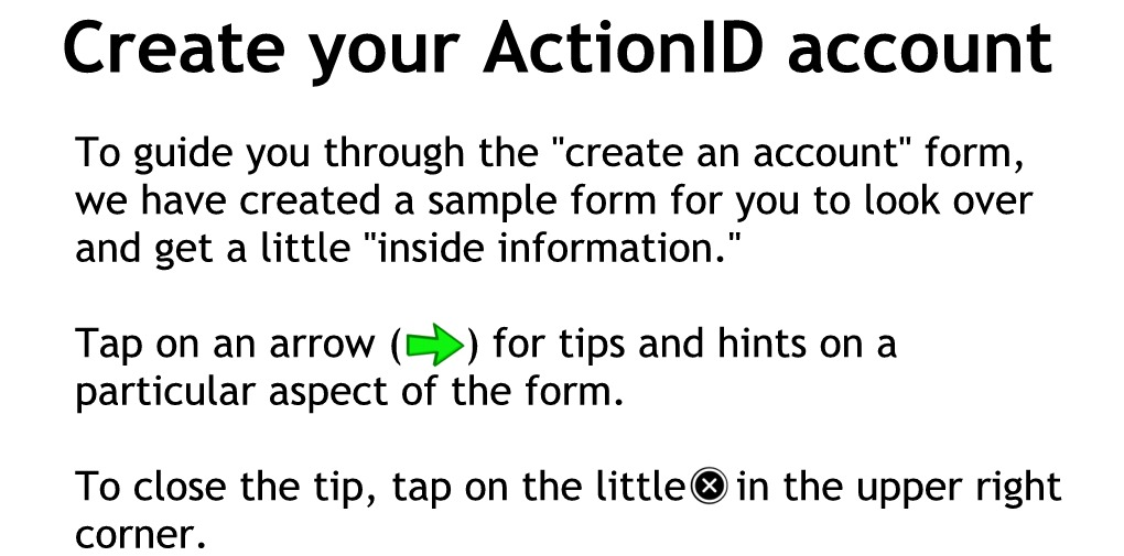 Sample form with hints