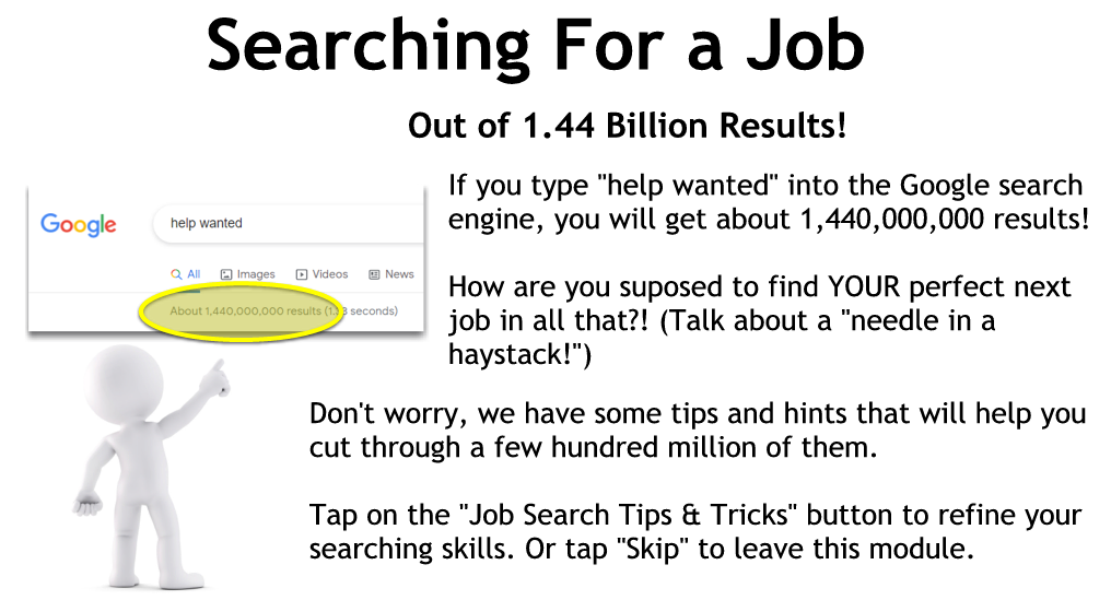 Searching for jobs on the Internet